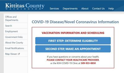 Kittitas County's COVID-19 Vaccine scheduling goes Live