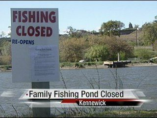 Family Fishing Pond closed for stocking