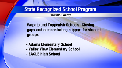 Kittitas and Yakima County Schools Recognized