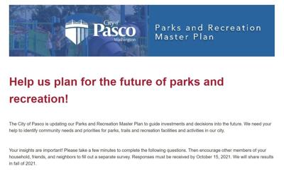 The City of Pasco is seeking community input for Parks and Rec master plan