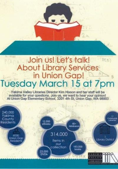 Join the discussion - learn more about the library services in Union Gap
