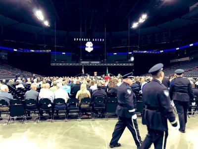 Lt. Jon Anderson memorial at Spokane Arena