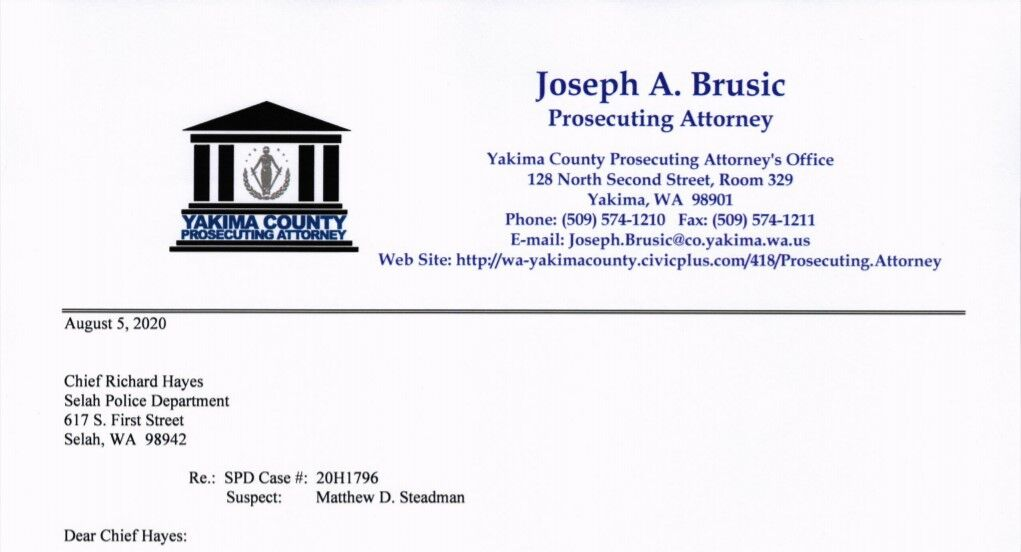 letter concerning the alleged assault involving SPD  Officer Worrell and ZPD Officer Steadman 1