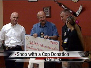 "Kennewick Wal-Mart donated $1,000 to ""Shop with a Cop"""