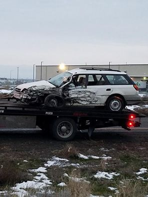 Wrong-way driver on US 395 causes several collisions