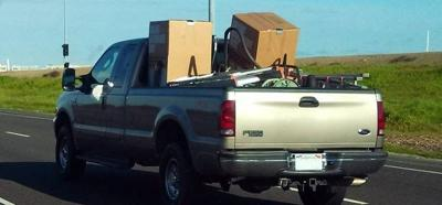 Yakima Sheriff's Office reminds you to secure loads travelling to the County Landfill on Roza Hill Drive