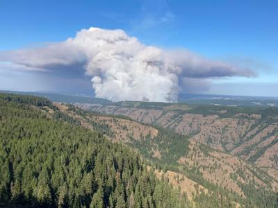 Elbow Creek Fire burns 9,000 acres near Mud Springs Oregon, level 3 evacuations