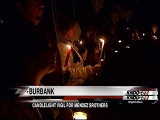 Candlelight Vigil for Mendez Brothers Killed in Burbank Car Accident.
