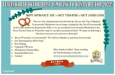 Leavenworth Oktoberfest no longer working for city, moving to Wenatchee for now