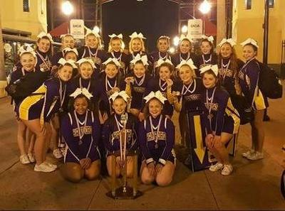 Hanford High School varsity cheer squad places second at nationals