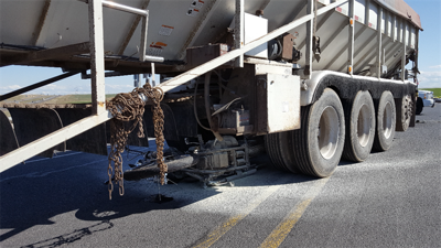 One dead after motorcycle vs. semi accident in Umatilla County