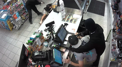 Clerk and customer treated for minor injuries after armed robbery