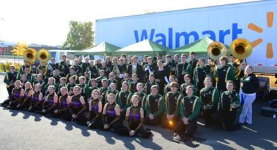 Local Walmart Partners with Richland High School to Transport Band Equipment