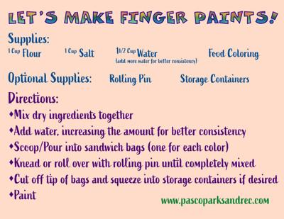 Finger Paint Instructions