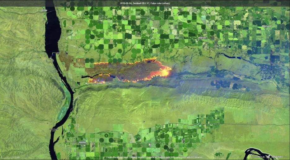 243 Fire satellite view