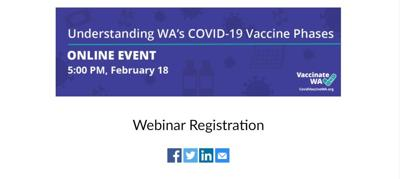 Washington state experts to host webinar on COVID-19 vaccine phases