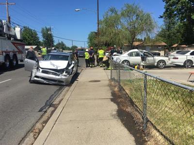 Two-car crash in Yakima injures three on Monday