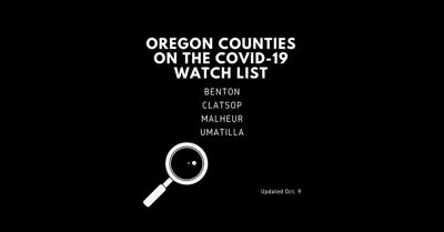 Governor Kate Brown Announces Updates to the County Watch List