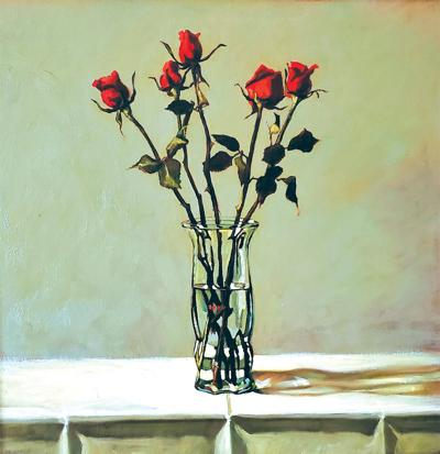 first-weekend-art-Vase-with-Roses