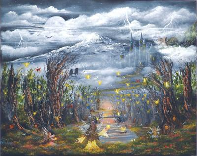 Artist shares painting technique