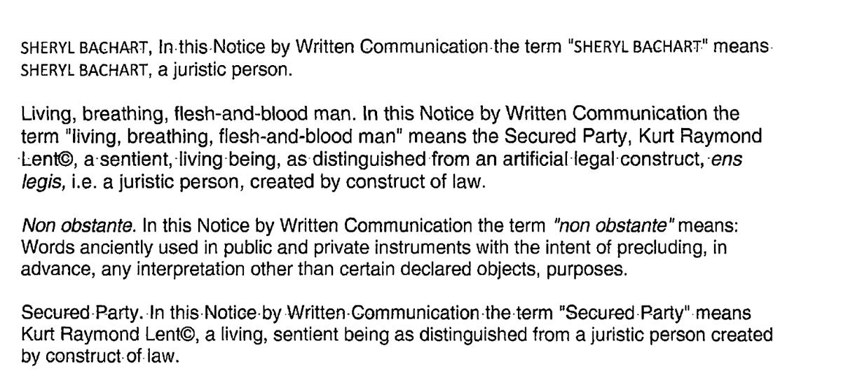 Excerpt of security agreement