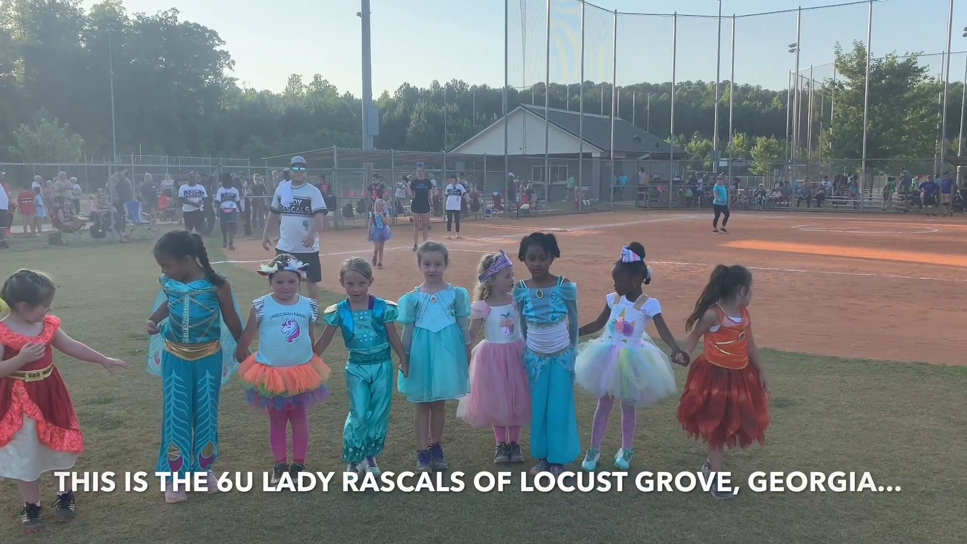 VIDEO: Youth softball girls get surprise homecoming
