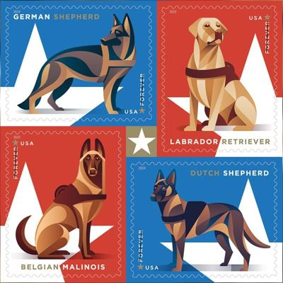 USPS is honoring military dogs with a 2019 stamp collection