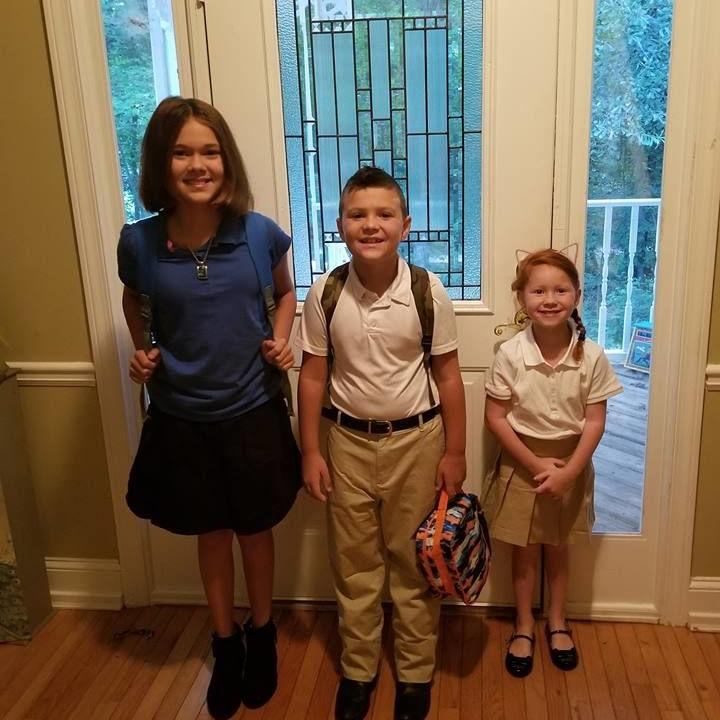 First day of school family pictures