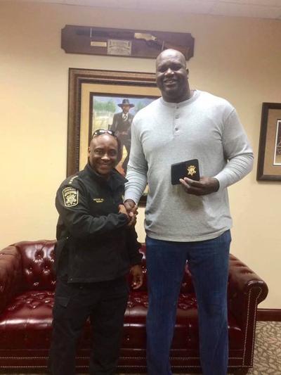 Shaq sworn in as honorary Clayton County Sheriff's Deputy