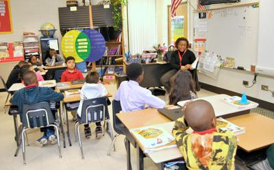 Students gather for 'read-in' at Kilpatrick Elementary