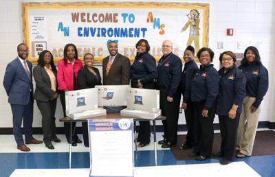 Solicitor General donates 10 laptops to CCPS