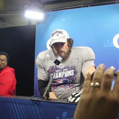 WATCH: Wesleyan Grad, UGA alum David Andrews on winning Super Bowl 53 in Atlanta