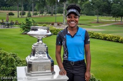 KPMG, Mariah Stackhouse, PGA Championship Tour, Photo by Julia Murphy, Trophy.jpg