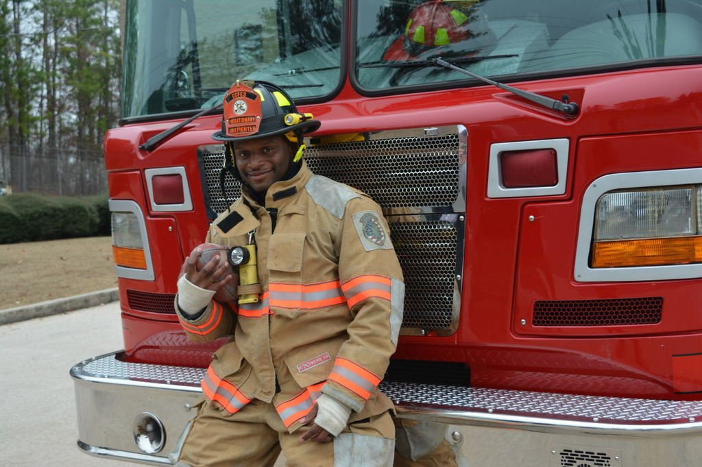 Blazing a Trail: Former NFL running back Kregg Lumpkin committed to career with Clayton County Fire Department