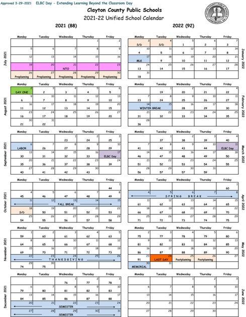 Gsu Spring 2022 Calendar.Clayton Board Of Education Approves 2021 22 School Calendar News News Daily Com