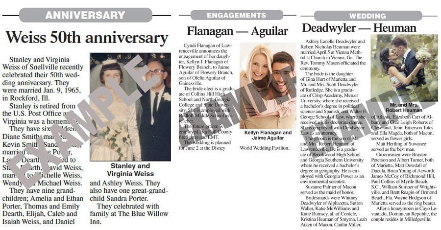 Wedding Announcements Newspaper.Announcements News Daily Com