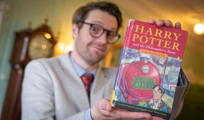 A rare first edition Harry Potter book with two typos just sold for $34,500 at auction