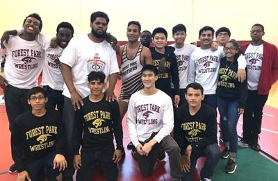 Forest Park wrestling program supports coaches during Georgia State Games
