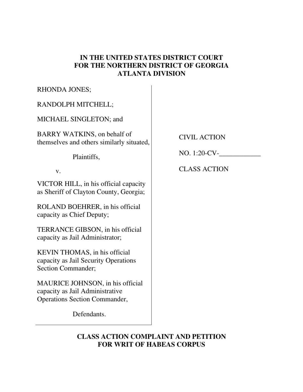 Jones-v-Hill-complaint