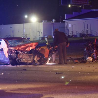 PHOTOS: Fatal three-car wreck on Forest Parkway