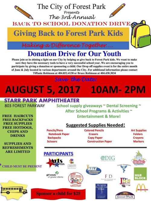 Back-to-school event in Forest Park offers free school