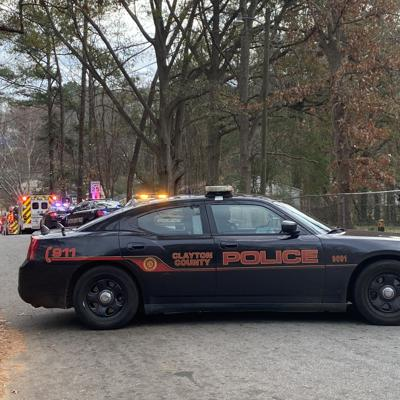 Large police, fire presence on Vinton Woods Dr., Forest Park for Brian Lane fire