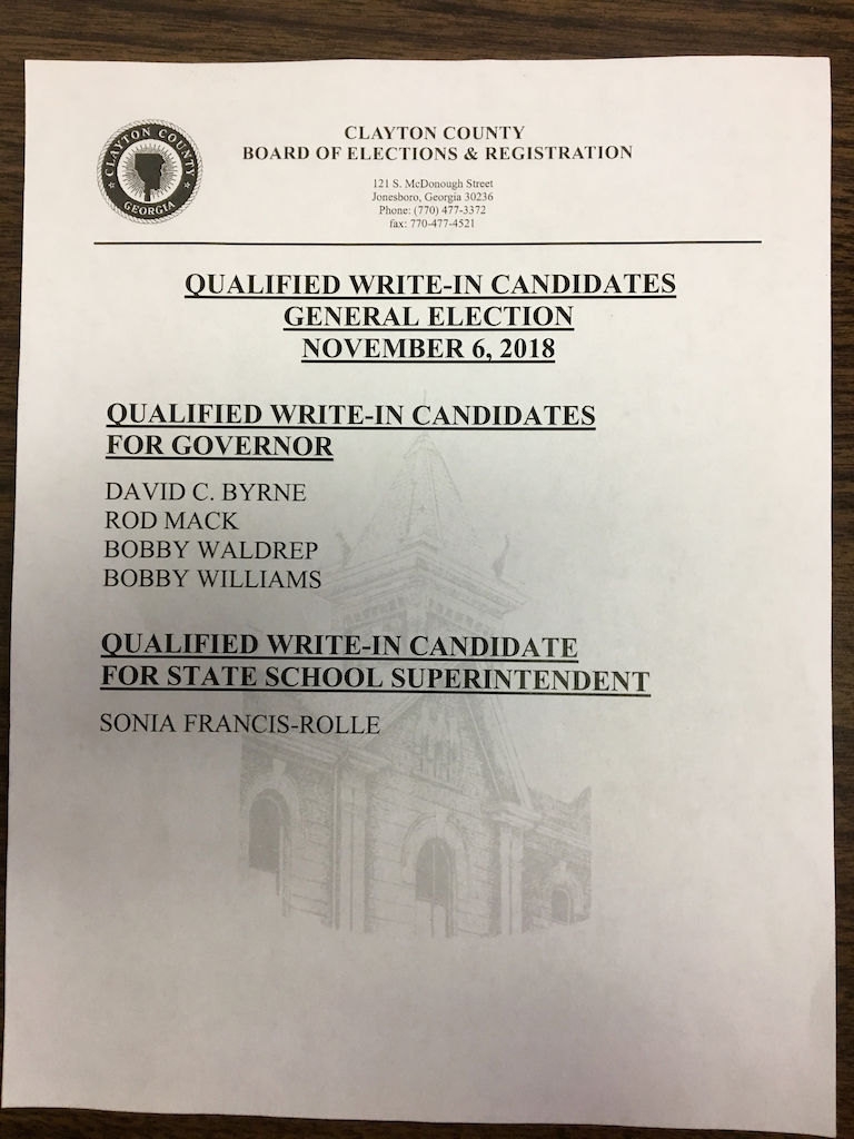 Mysterious Flyer Drops Write In Candidate S Name Features News