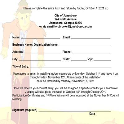 Scarecrow Contest Entry Form
