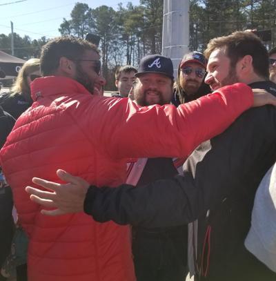 Darrell Wallace Jr  and Daniel Suãrez appear at NASCAR