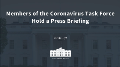 LIVE: Watch Wednesday's White House coronavirus task force press conference