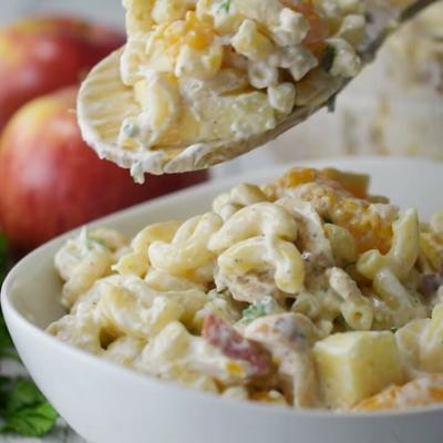 VIDEO: How to make Apple & Mandarin Macaroni Salad