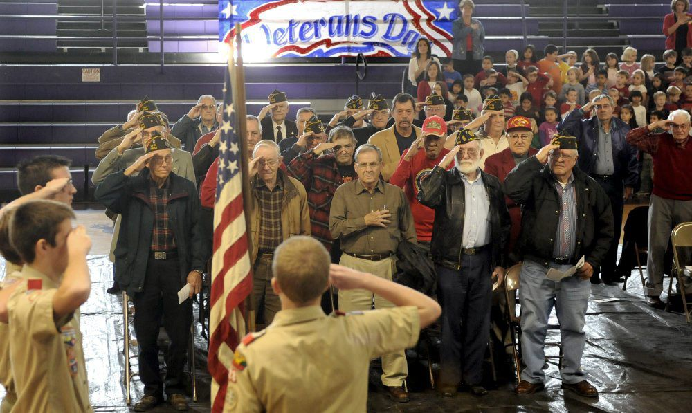 1103 TOTM Arcola High School Veterans Day assembly