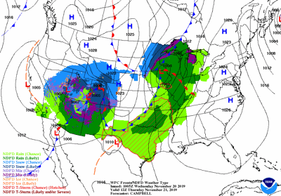 It's an active weather pattern over the next couple of days.