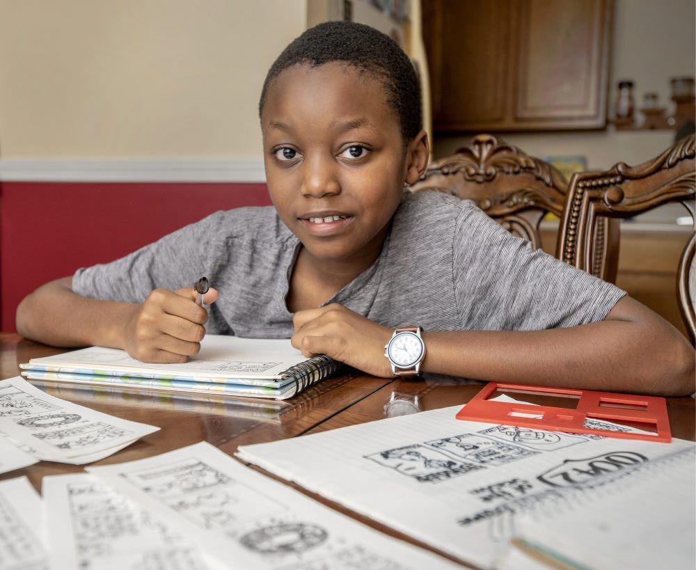 Kid Drawing Comics1